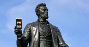 Abe Lincoln iPhone
